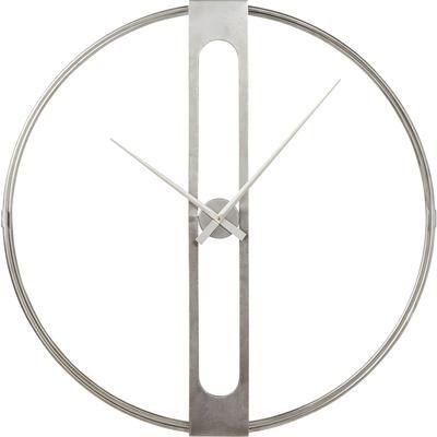 Reloj pared Clip plata Ø107cm