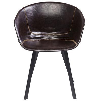 Silla reposabrazos Lounge marrón