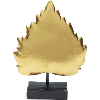 Objeto deco Leaves oro 17cm