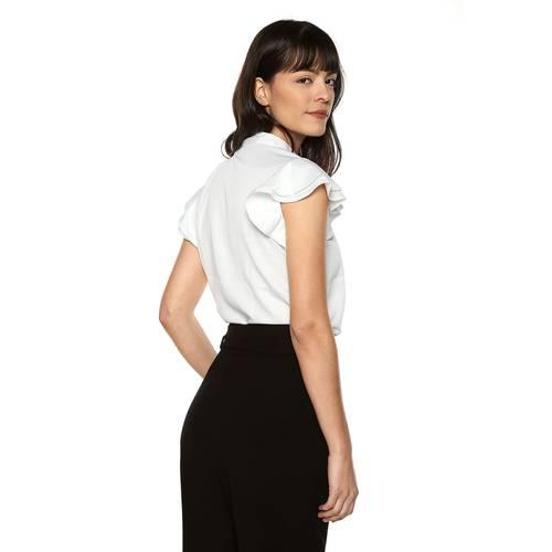 Camisa Lisa Color Siete Para Mujer  - Blanco