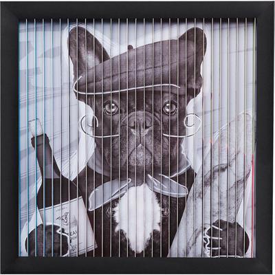 Cuadro Art 3D French Dog 43x43cm