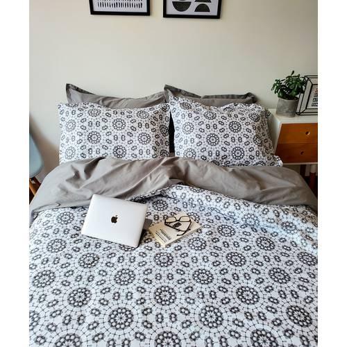 Duvet Doble Faz Elegance Gris y Blanco