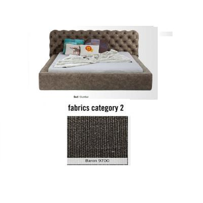 Cama Slumber,  tela 2 - Baron 9700, (82x228x239cms), 180x200cm (no incluye colchón)