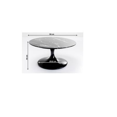 Mesa centro Solo Marble negro 90cm