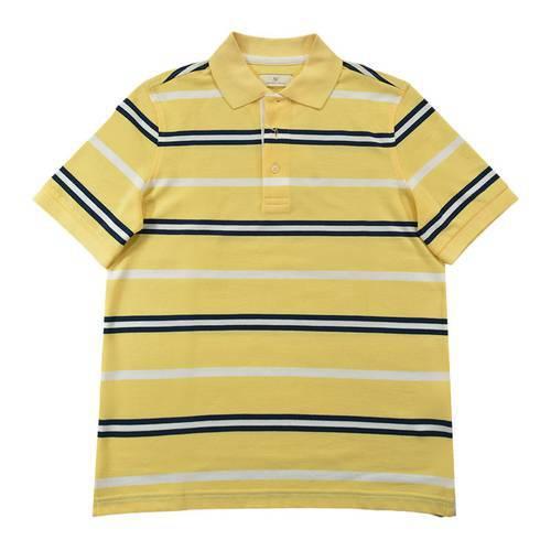 Camiseta Polo Nal Rayas Pique 130-85 Amarillo