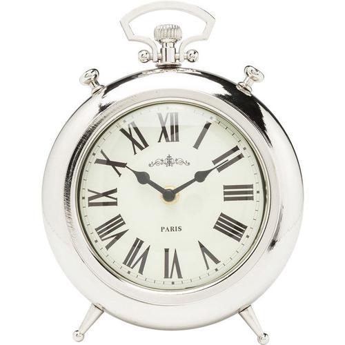Reloj mesa Pocket redondo plata
