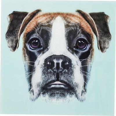Cuadro Glas Dog Face 60x60cm