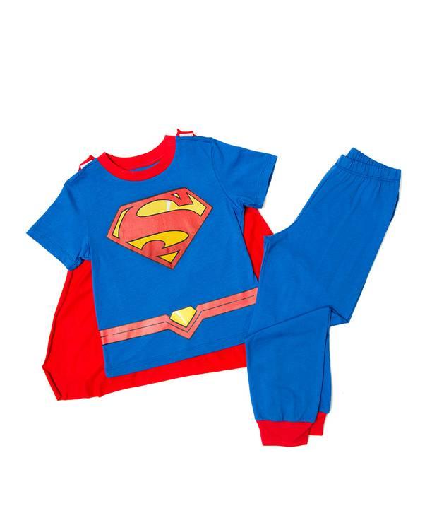 Pijama Con Capa Niño Superman