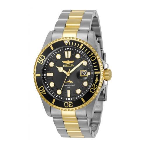 Reloj quartz negro-acero dorado 0023