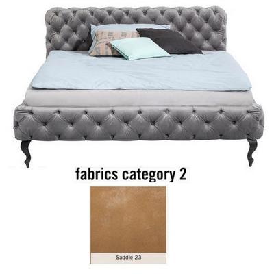 Cama Desire, tela 2 - Saddle 23,   (100x177x228cms), 160x200cm (no incluye colchón)