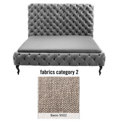Cama (Alta) Desire, tela 2 - Baron 9502, (138x177x228cms), 160x200cm (no incluye colchón)