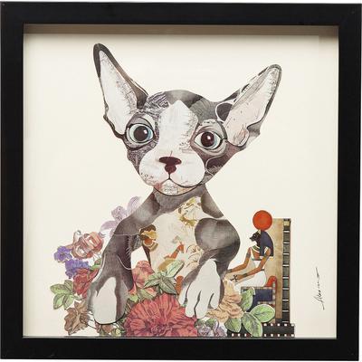 Cuadro Art Flower Cat 41x41cm
