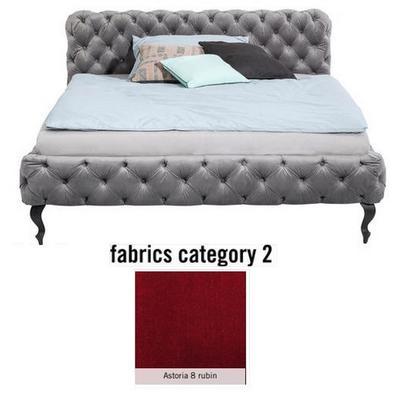 Cama Desire, tela 2 - Astoria 8 rubin,  (100x157x228cms), 140x200cm (no incluye colchón)