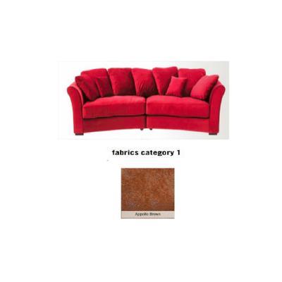 Sofá Fasano, 2 puestos, tela 1 - Appollo Brown (287x133x70cms)