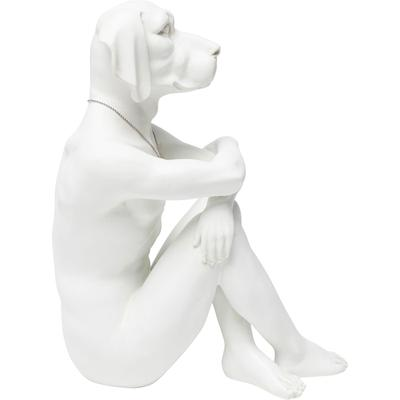 Figura decorativa Gangster Dog crema