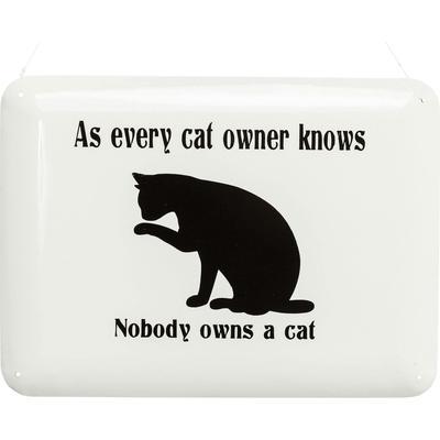 Cartel decorativo Cat Owner