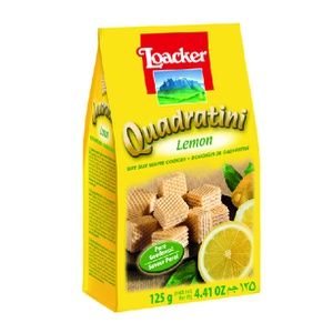 Galleta Quadratini Crema De Limon 125g