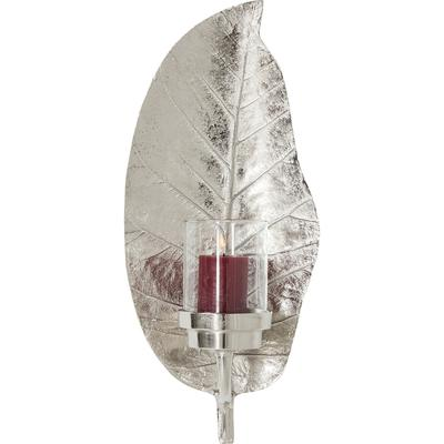 Portavelas Leaf plata