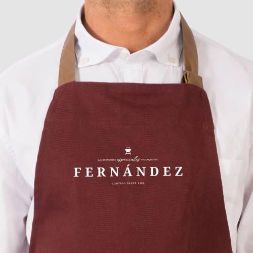 Delantal Color Siete Fernández - Vino Tinto