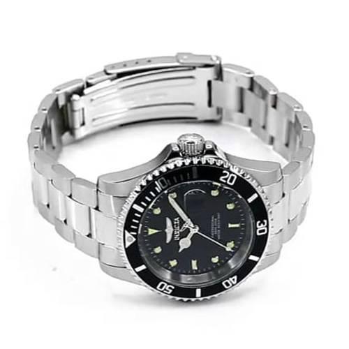 Reloj quartz negro-acero 6970