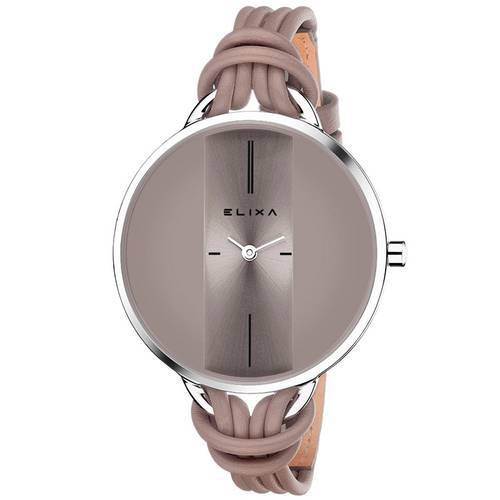 Reloj Finesse Café/Plateado 375-K1 - ELIXA