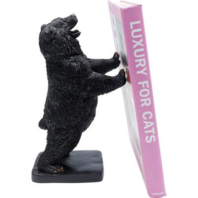Objeto decorativo Bear negro 30cm