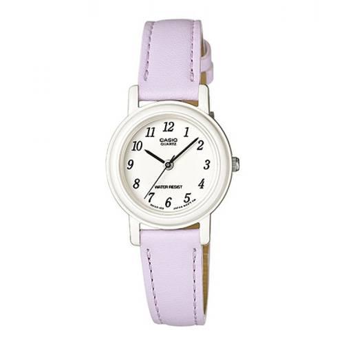 Reloj análogo blanco-púrpura L-6B