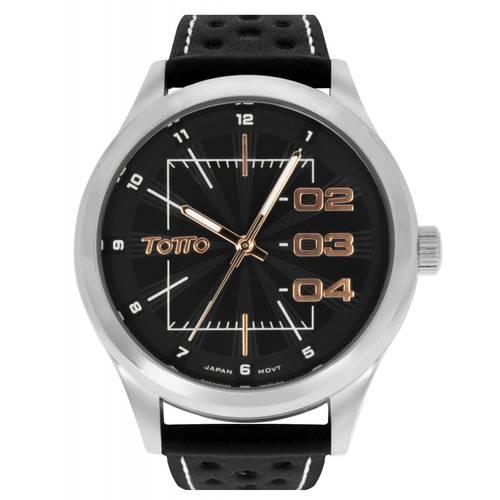 Reloj Plateado/Negro - Tr004-2