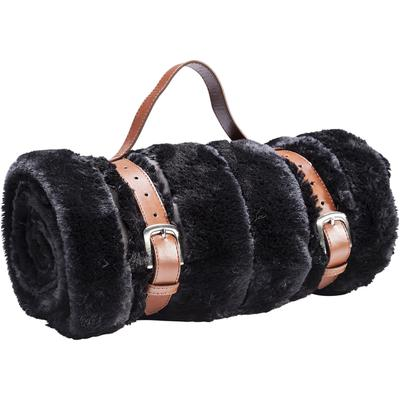Cobertor Fur Stripes negro 150x200cm