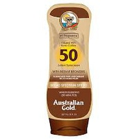 Australian Gold SPF 50 Lotion sunscreen with instant bronzer
