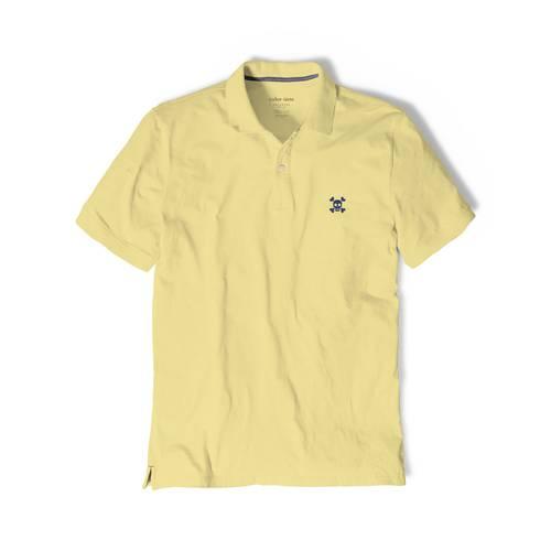 Polo Color Siete Para Hombre Amarillo - Calavera