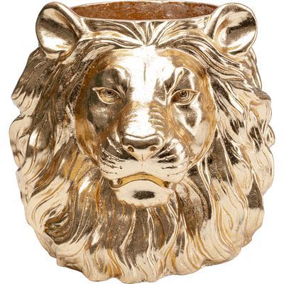 Macetero decorativo Lion oro