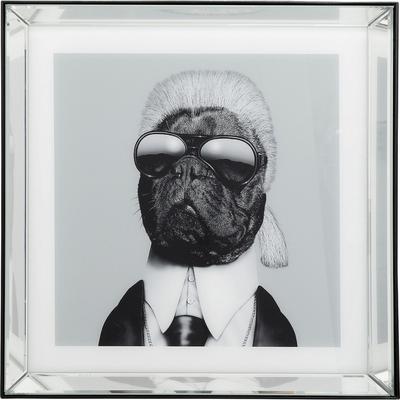 Cuadro Frame Mirror Designer Dog 60x60cm