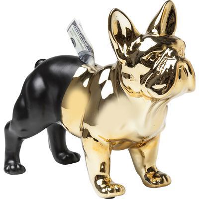 Alcancía Bulldog oro negro