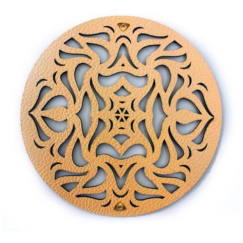 Portavaso para Mesa, Doble Faz Azul Mate y Dorado Mod Circle 10cm