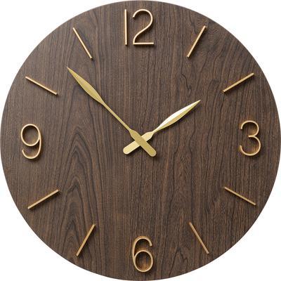 Reloj pared Oscar negro Ø60