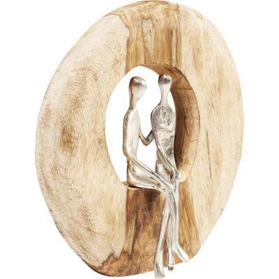 Objeto decorativo Couple In Log