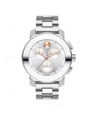 Reloj análogo blanco-plateado 0356