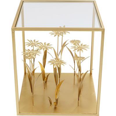 Mesa auxiliar Flower Meadow oro 40x40cm