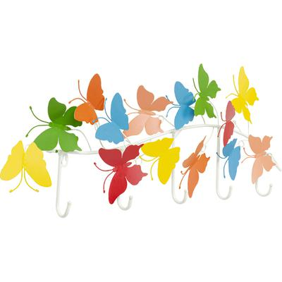 Perchero pared Colorful Butterflies