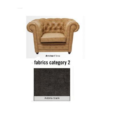 Poltrona Oxford, tela 2 - Astoria Black (115x76x92cms)