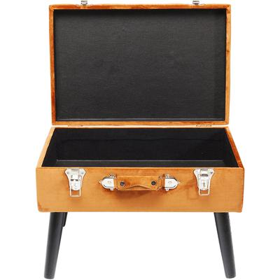 Escabel Suitcase naranja