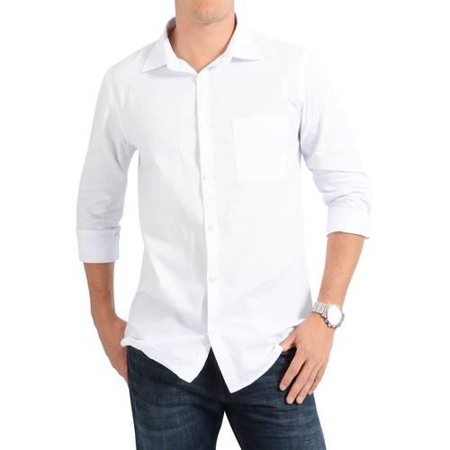 Camisa Manga Larga Jones Oxford Color Siete para Hombre - Blanco