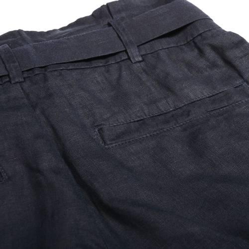 Short Lino Color Siete Para Mujer - Azul