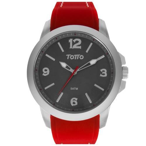 Reloj Plateado/Rojo - Tr023-2