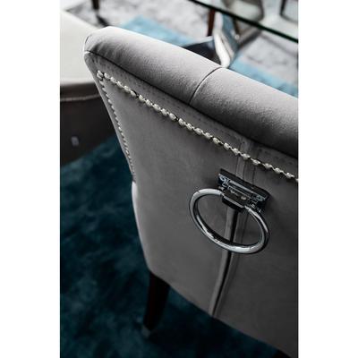 Silla reposabrazos Prince Velvet gris
