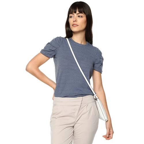 Blusa Bubble Color Siete Para Mujer  - Azul