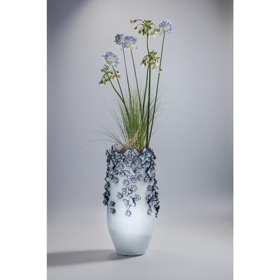 Vasija Butterflies azul claro 50cm