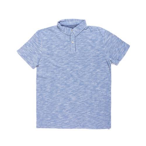 Camiseta Tipo Polo Color Siete para Hombre - Azul
