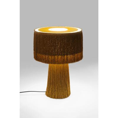 Lámpara mesa Fringes naranja